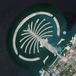 グーグルアース「ドバイの海上都市」: 都市伝説とおもしろ画像