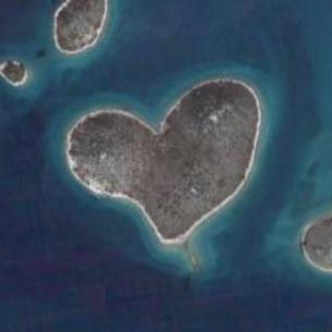 ハート形の島